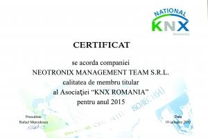 Certificat KNX Romania_2015