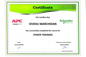 Certificat Schneider_Power Training_Ovidiu Marchidan