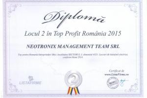 Diploma locul 2 top profit 2015