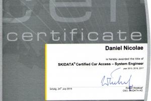 Skidata Certified Car Access - System Engineer_Daniel Nicolae